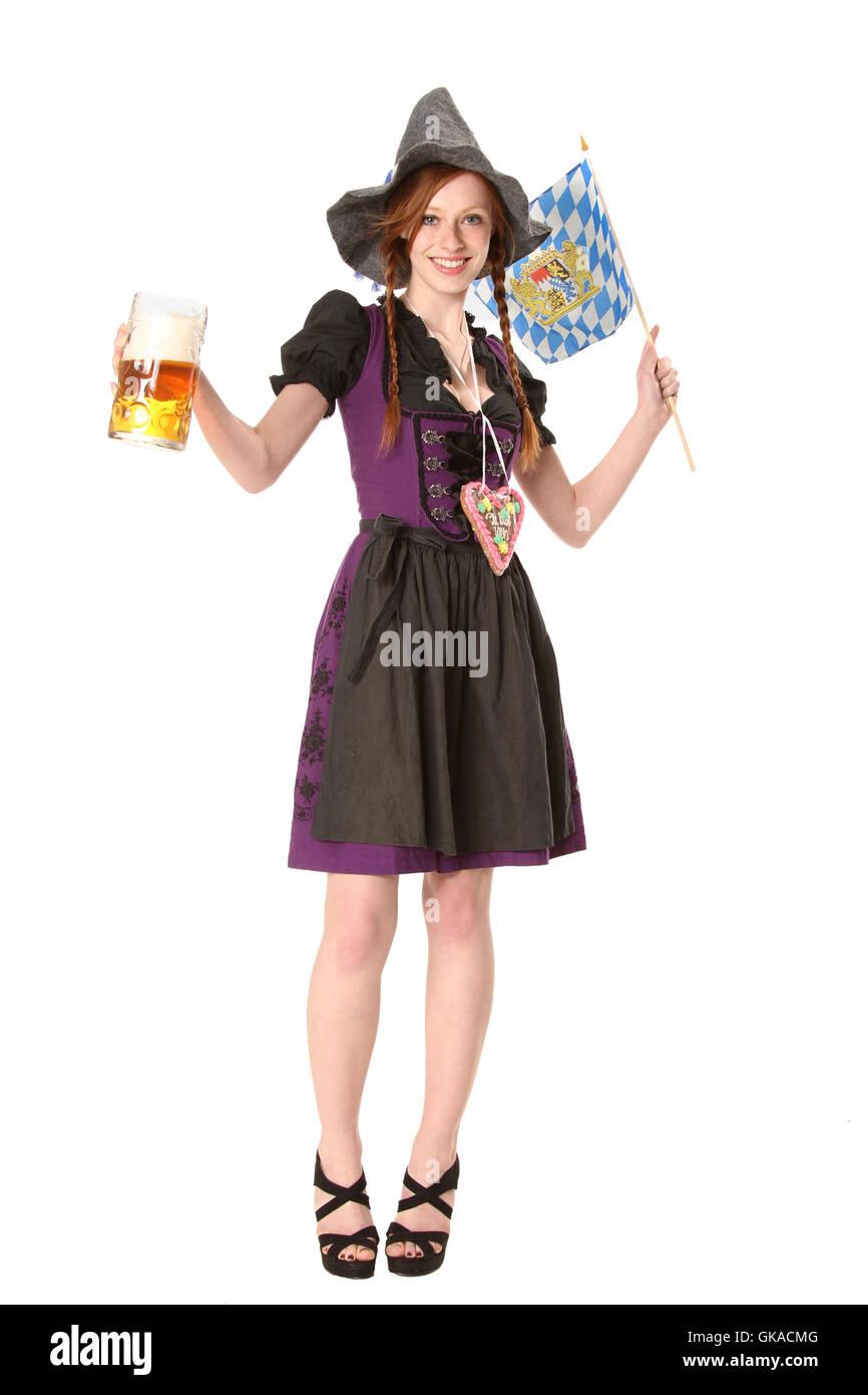 woman at the oktoberfest - Stock Image