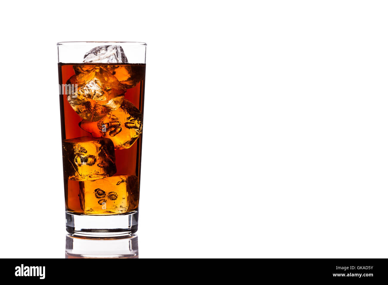 glass chalice tumbler - Stock Image