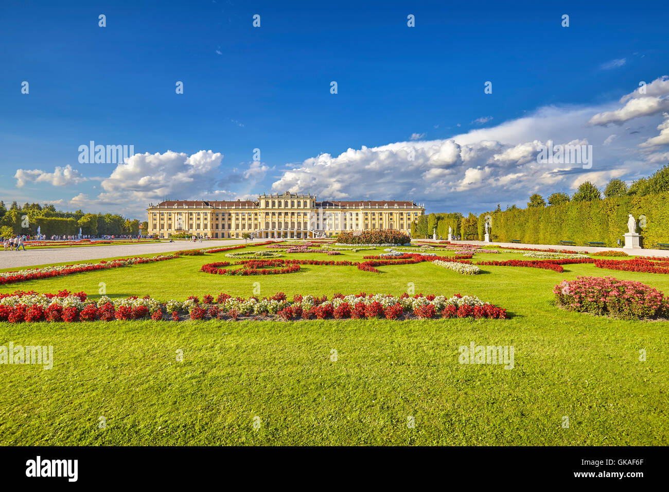 Garden in the Schonbrunn Palace complex. - Stock Image