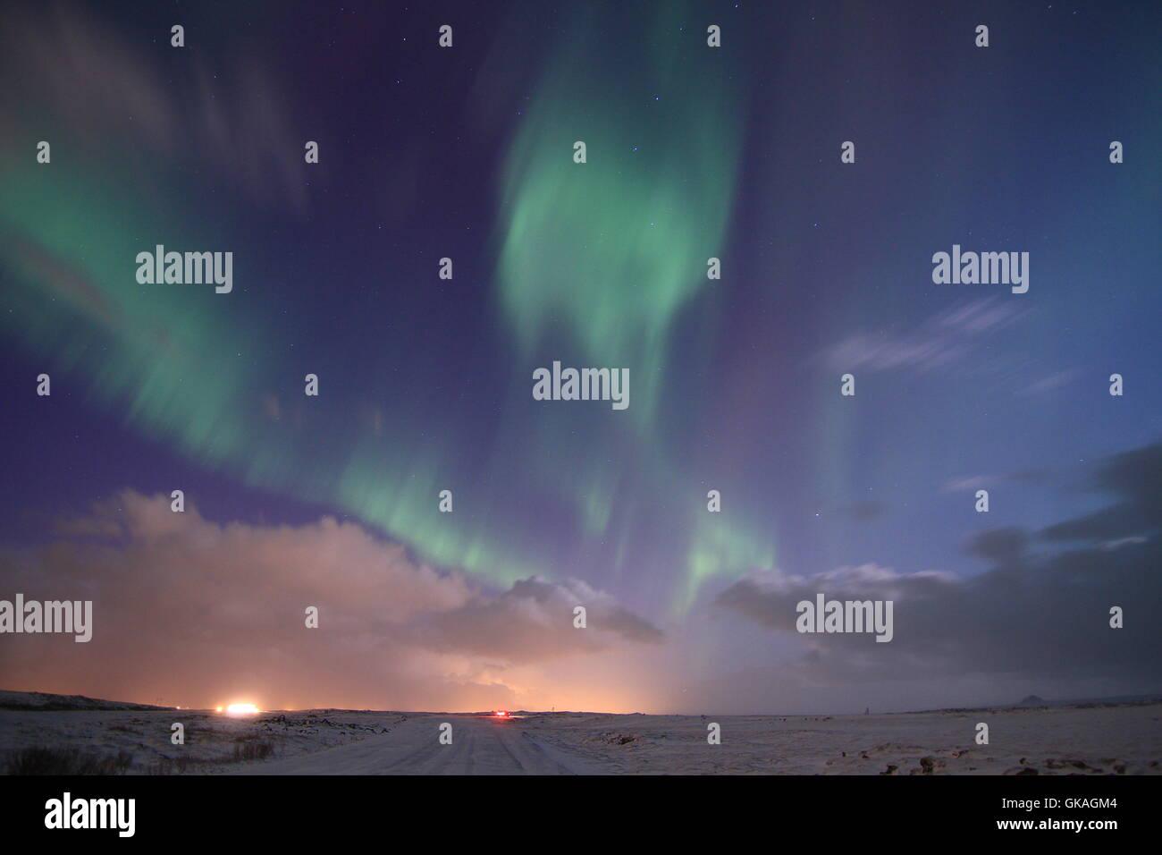 iceland stars asterisks - Stock Image