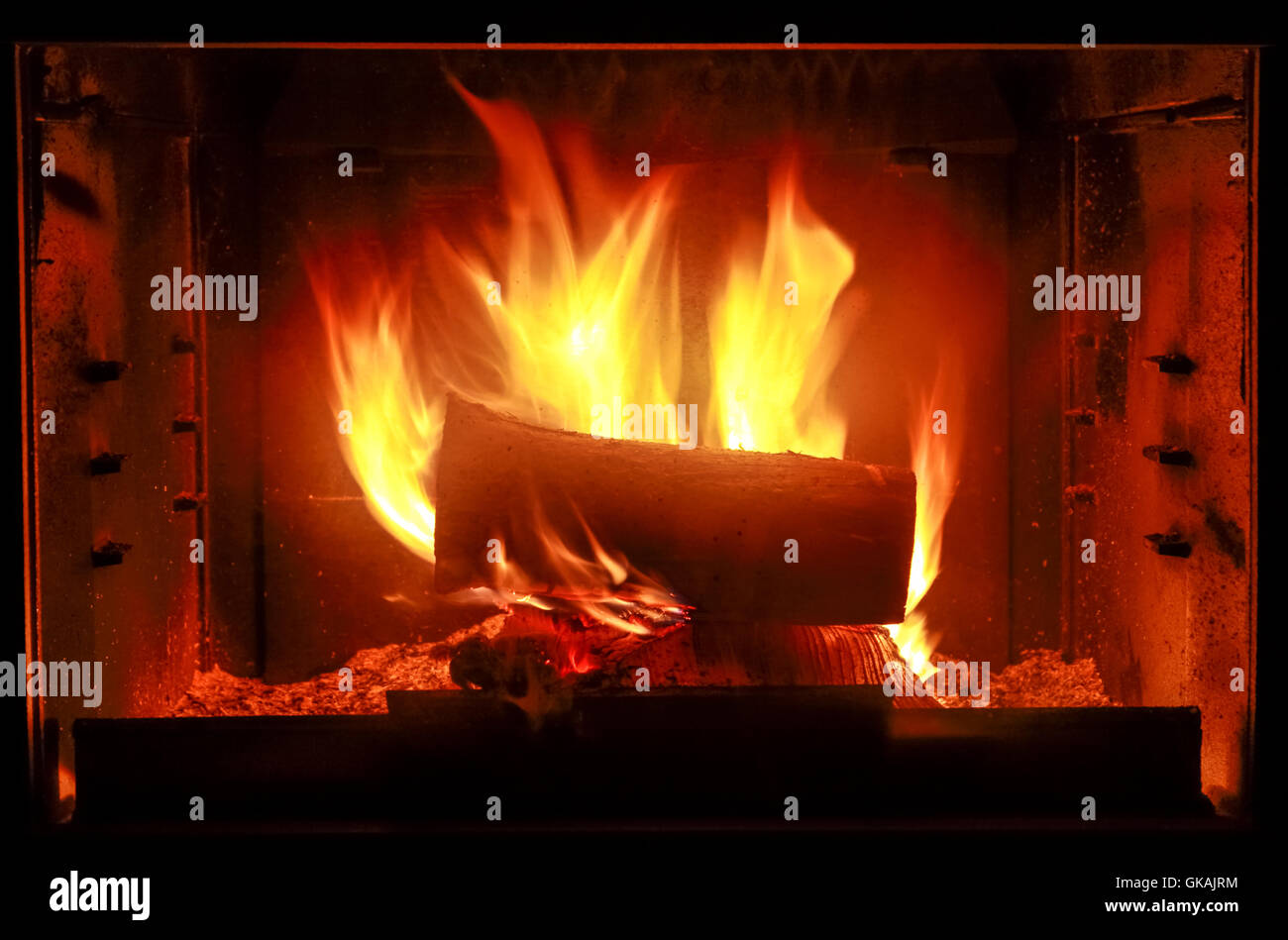 wood hot fire - Stock Image