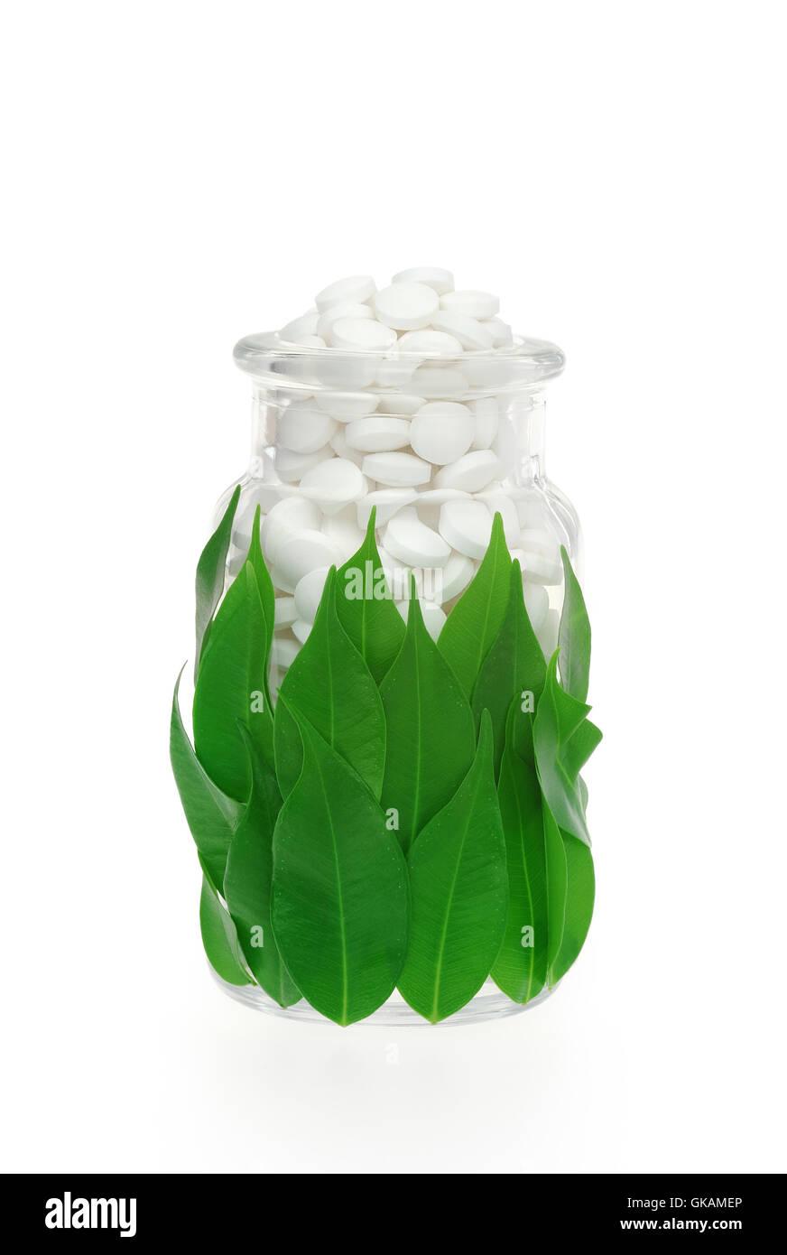 pills alternative homeopathy - Stock Image