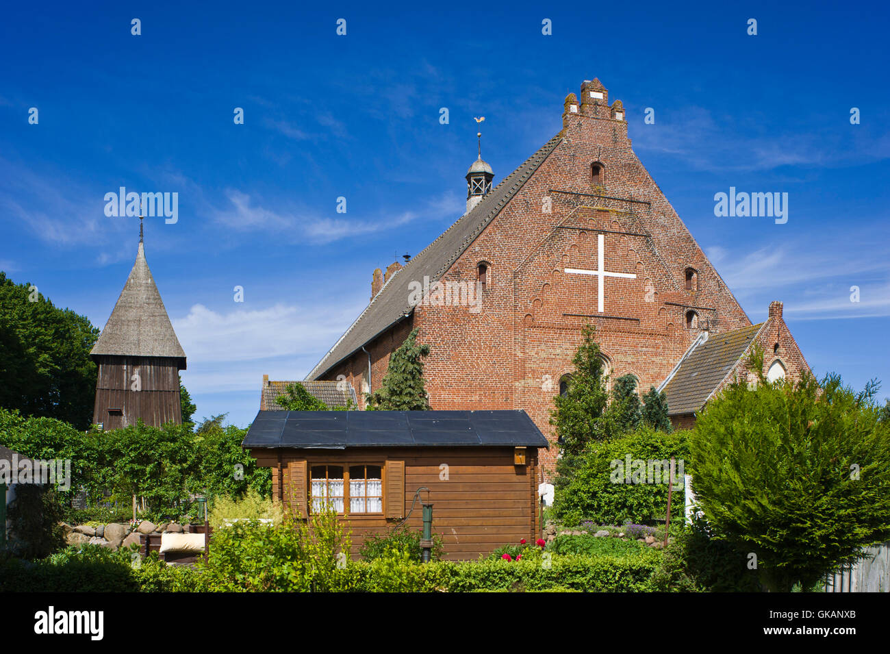 st. peter's church,country churches,fehmarn Stock Photo