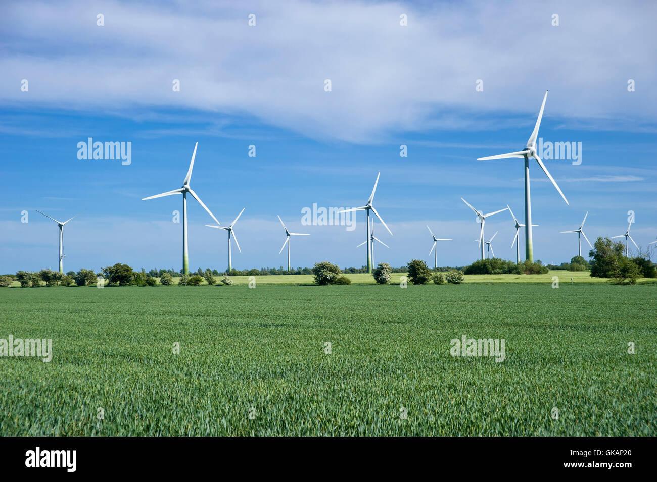 wind park,vadersdorf,insel fehmarn - Stock Image