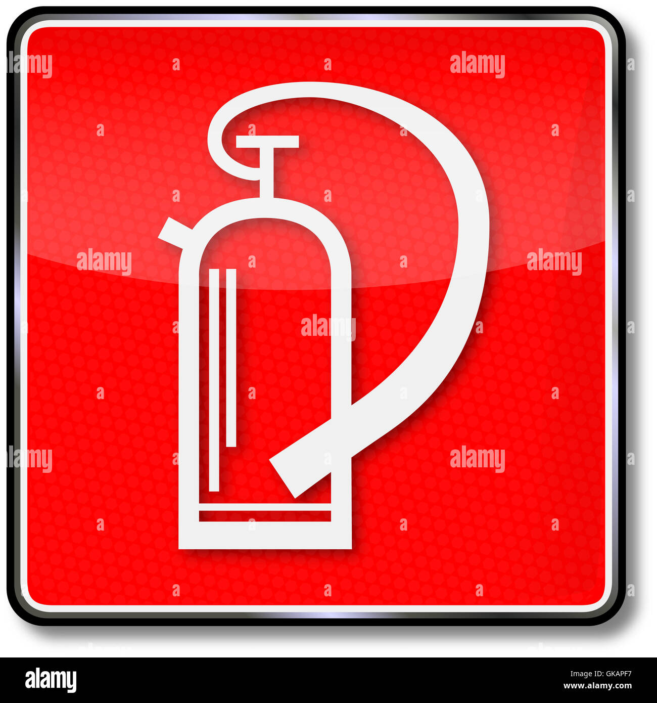 sign fire safety signs fire extinguisher - Stock Image
