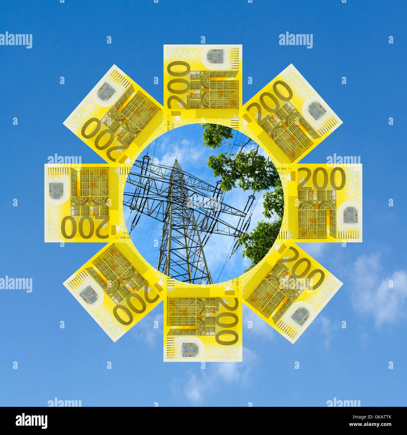 energy transition: costs and benefits - Stock Image
