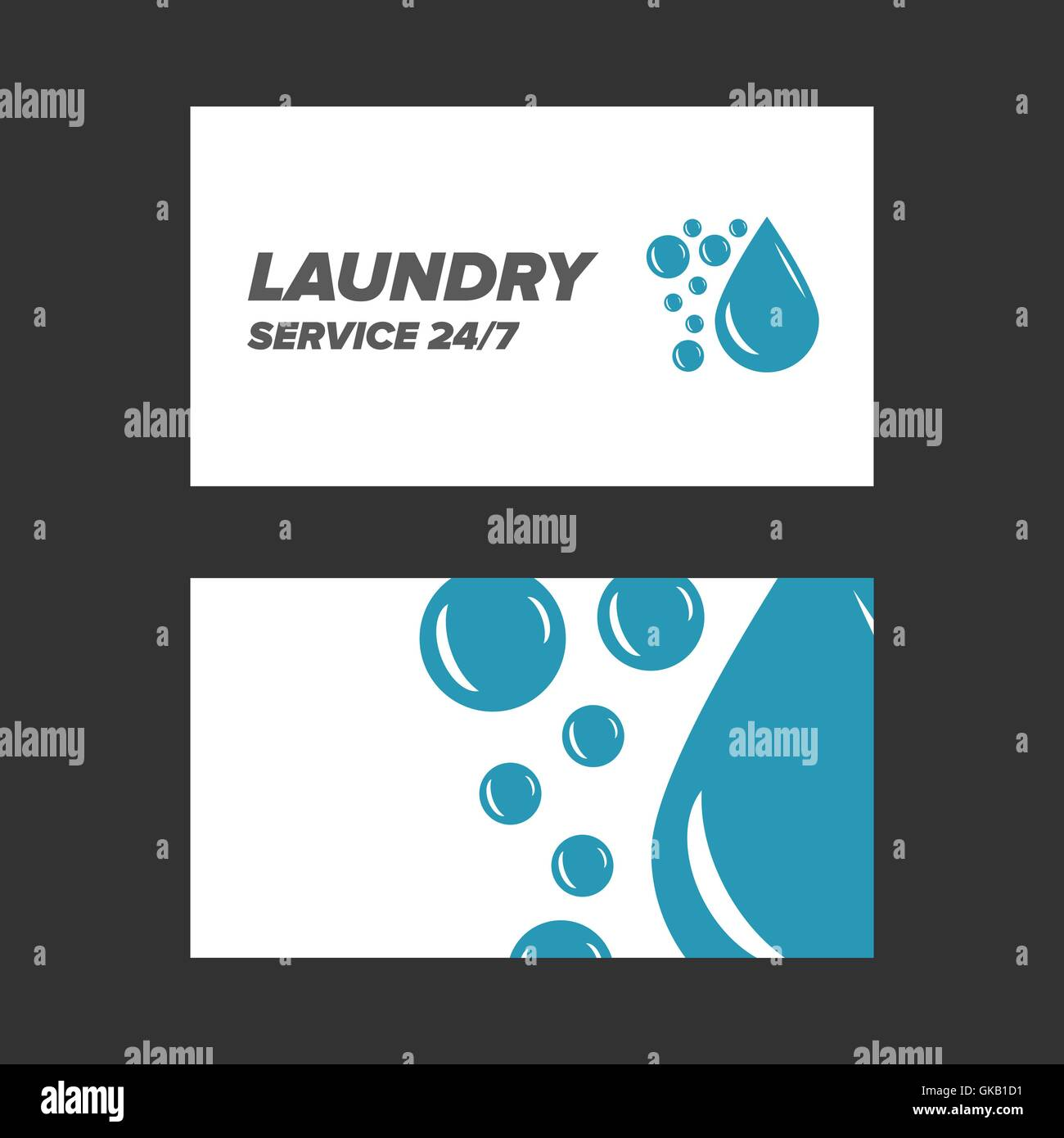 Blue Laundry Service Business Card Stock Photos & Blue Laundry ...
