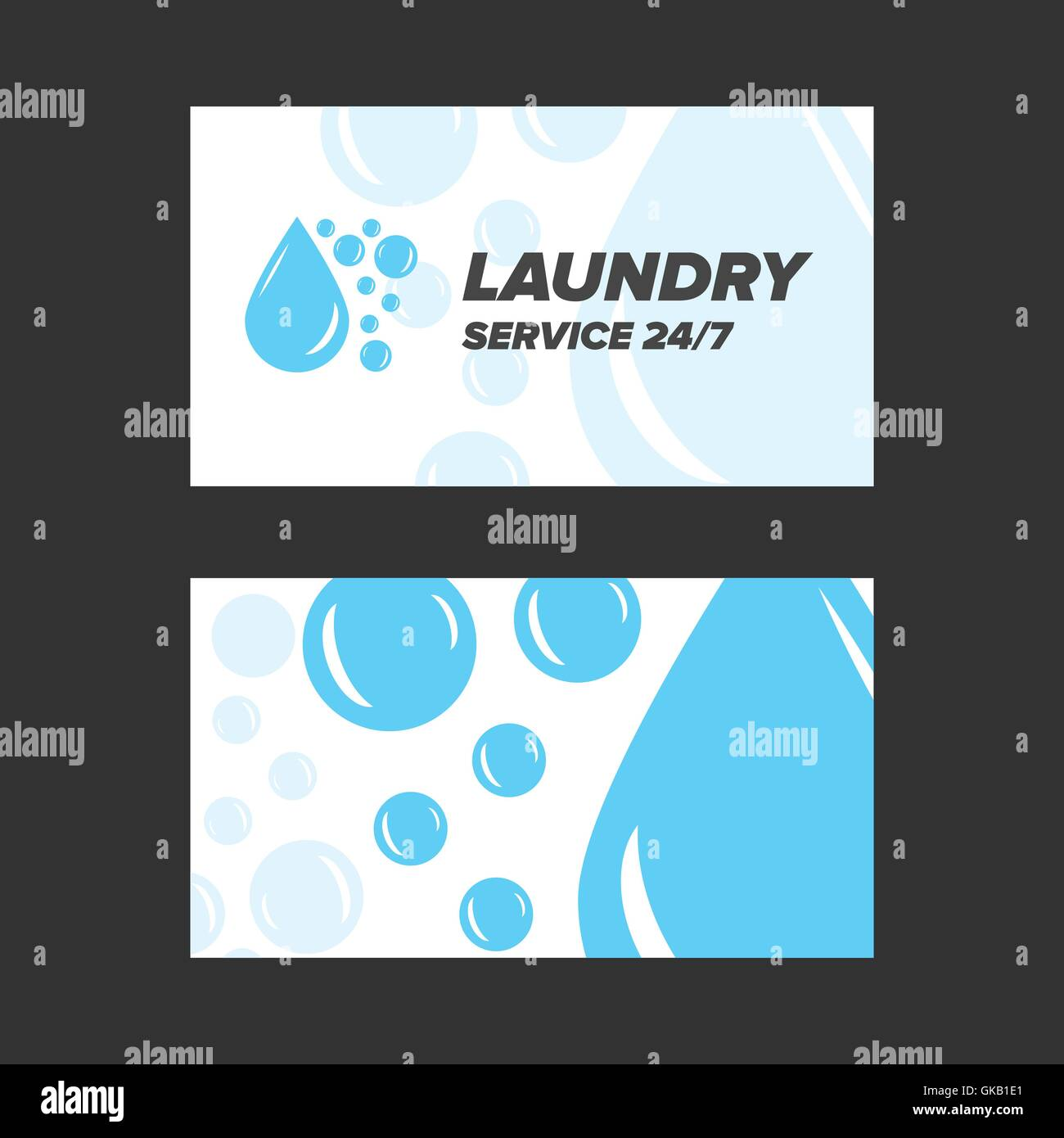 Blue Laundry Service Business card Stock Vector Art & Illustration ...