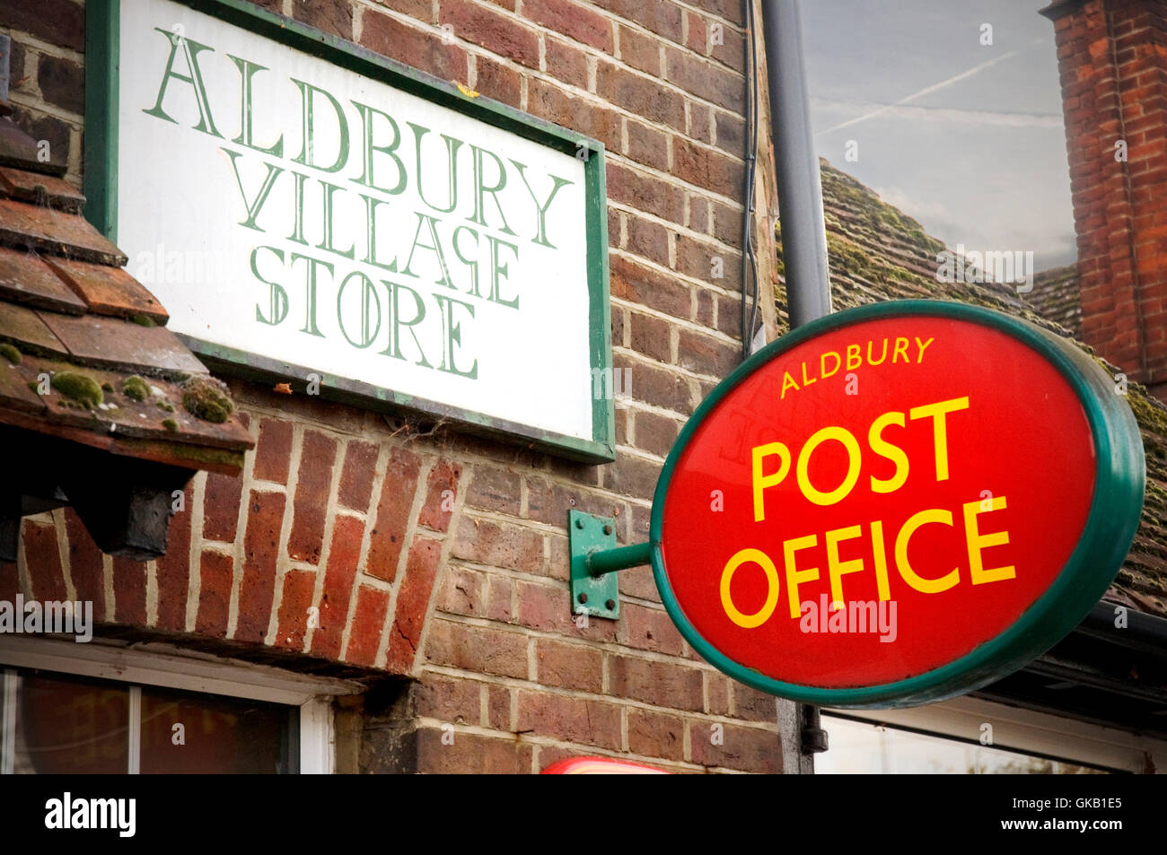 Rural post office in the village Aldbury,  near Tring, Hertfordshire - Stock Image