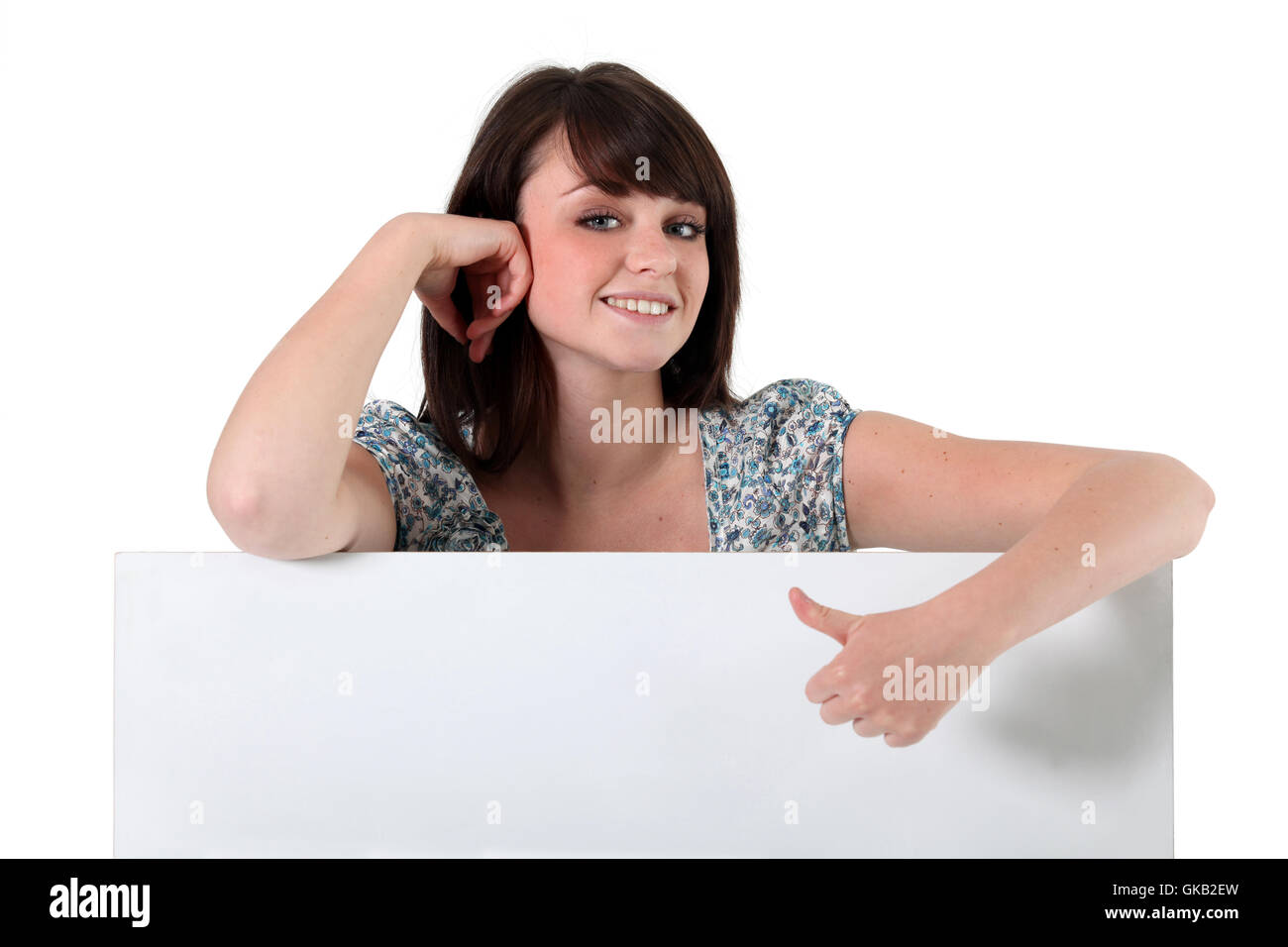 board sweet teen - Stock Image