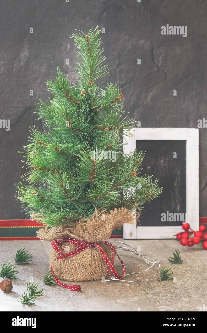 Retro Christmas Tree Nobody Indoor Stock Photos & Retro Christmas ...