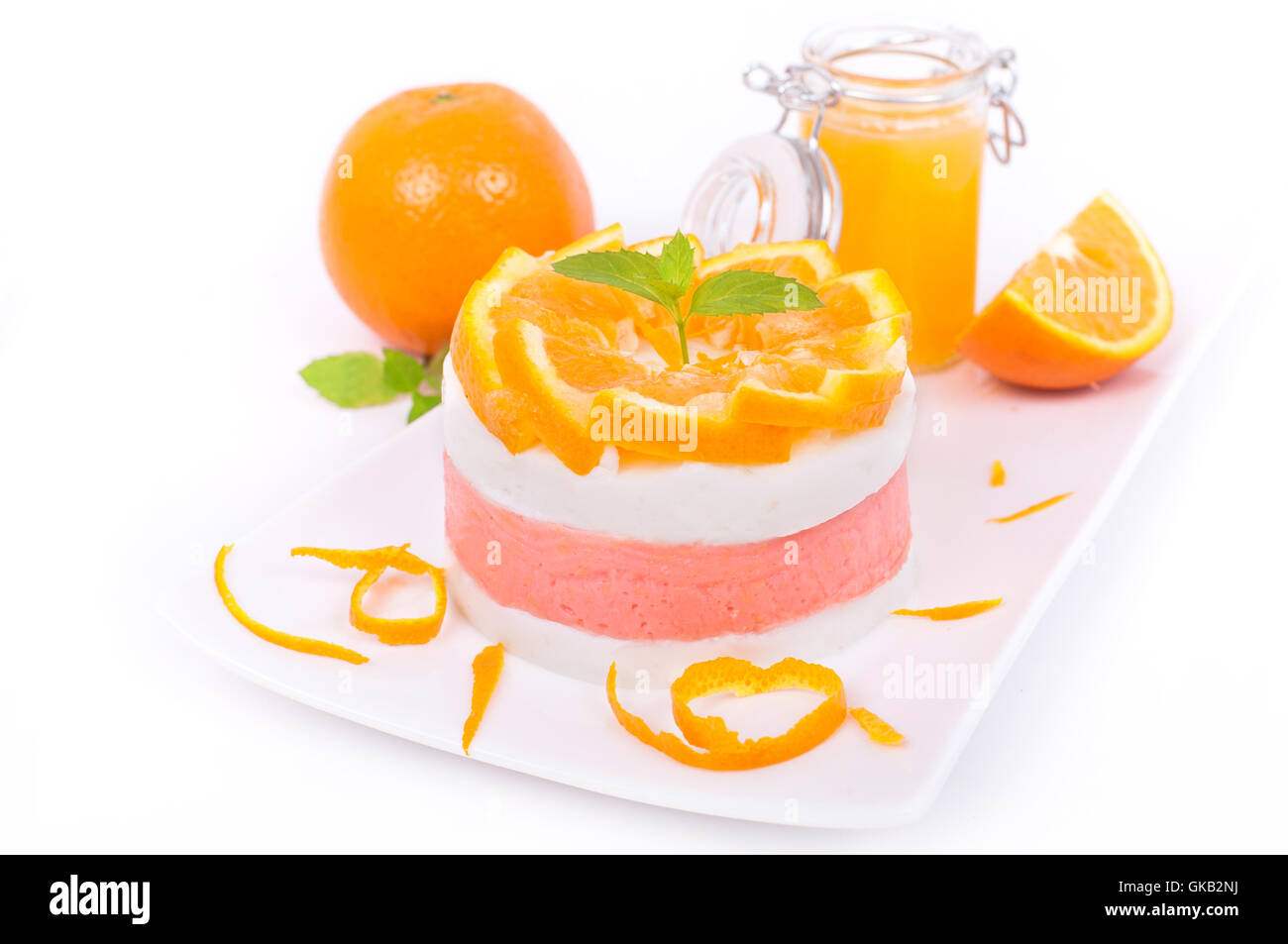 orange oranges dessert - Stock Image