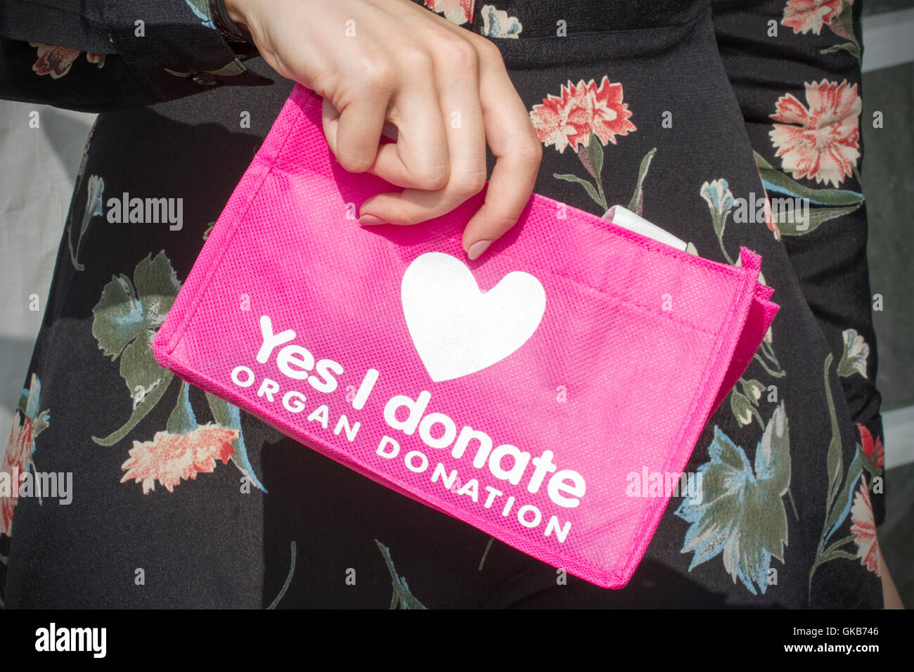NHS campaign to encourage visitors to register for organ donation at Southport Flower Show, 2016, Merseyside,UK - Stock Image