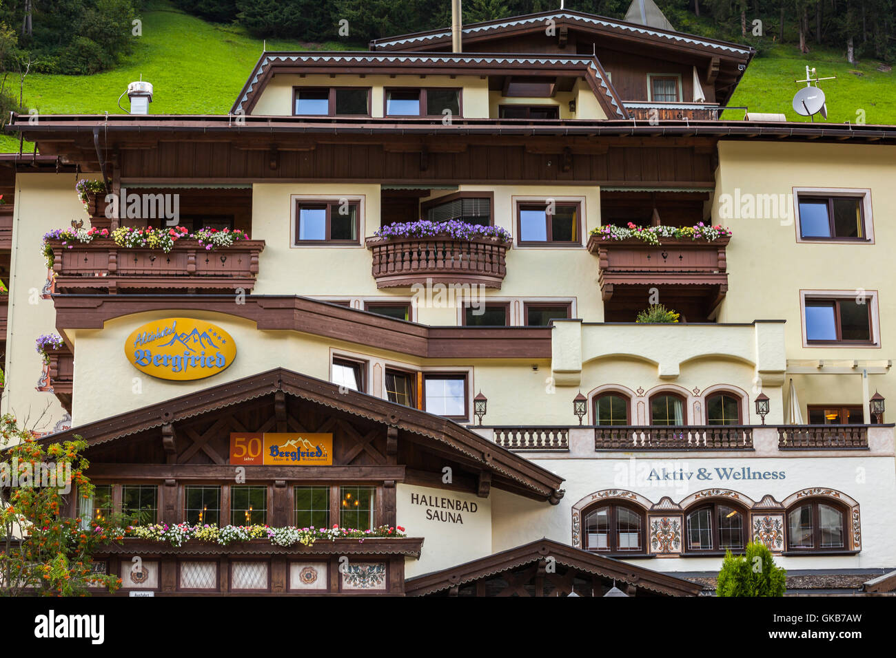 Traditional Austrian Houses In Tux Zillertal
