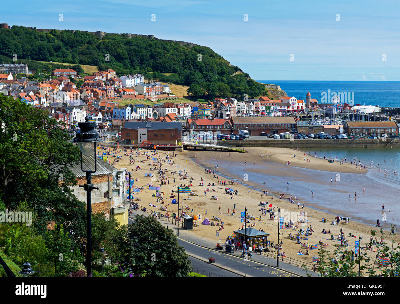 Beach, South Bay, Scarborough, North Yorkshire, England UK - Stock Image