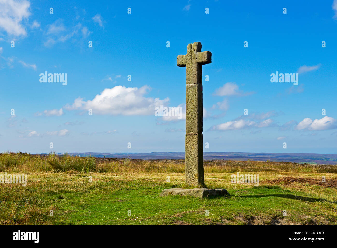 Ralph Cross on Westerdale Moor, North York Moors National Park north Yorkshire, England UK - Stock Image
