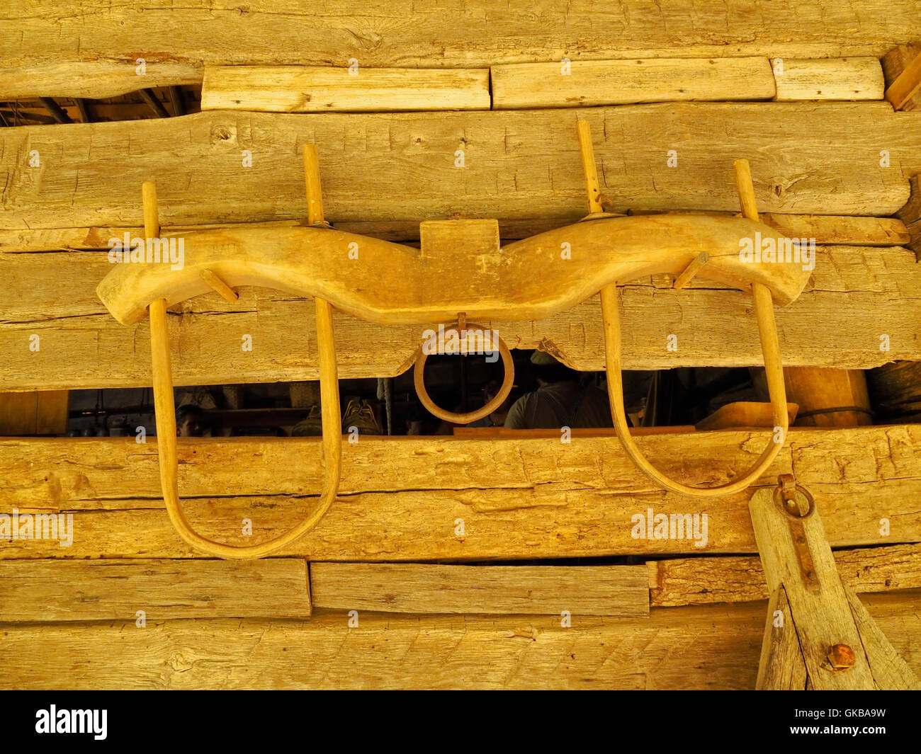 Ox Yoke, Tool Barn, Homeplace, Land Between The Lakes National Recreation Area, Dover, Tennessee, USA - Stock Image