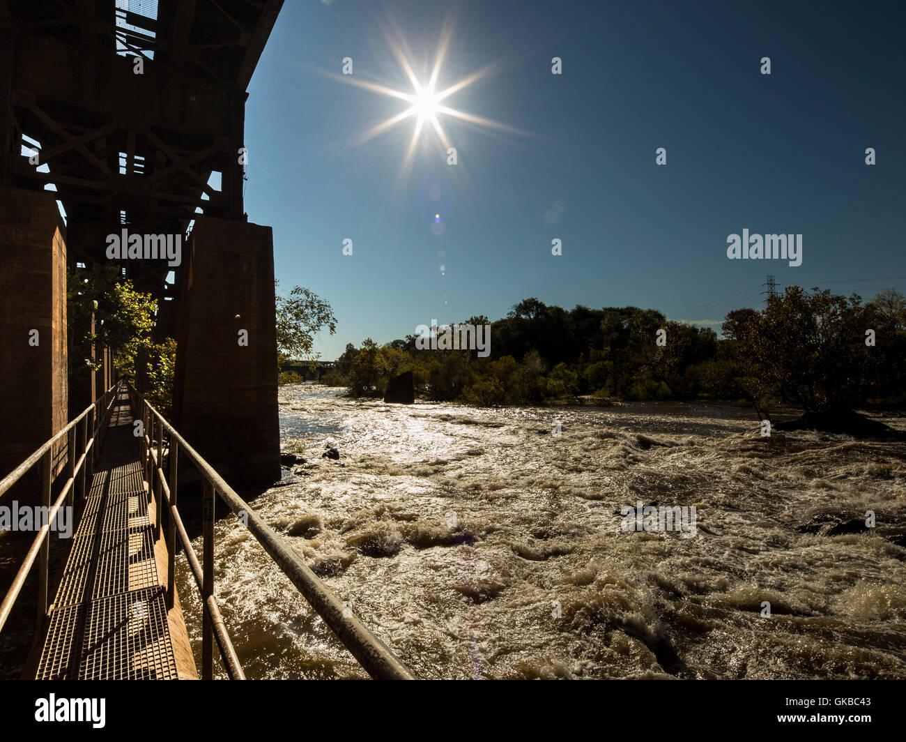 James River Pipeline Richmond Virginia - Stock Image