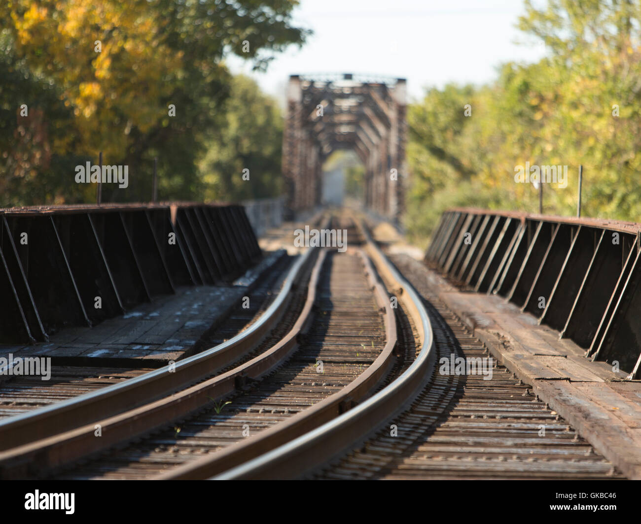 Railroad bridge in Richmond Virginia - Stock Image