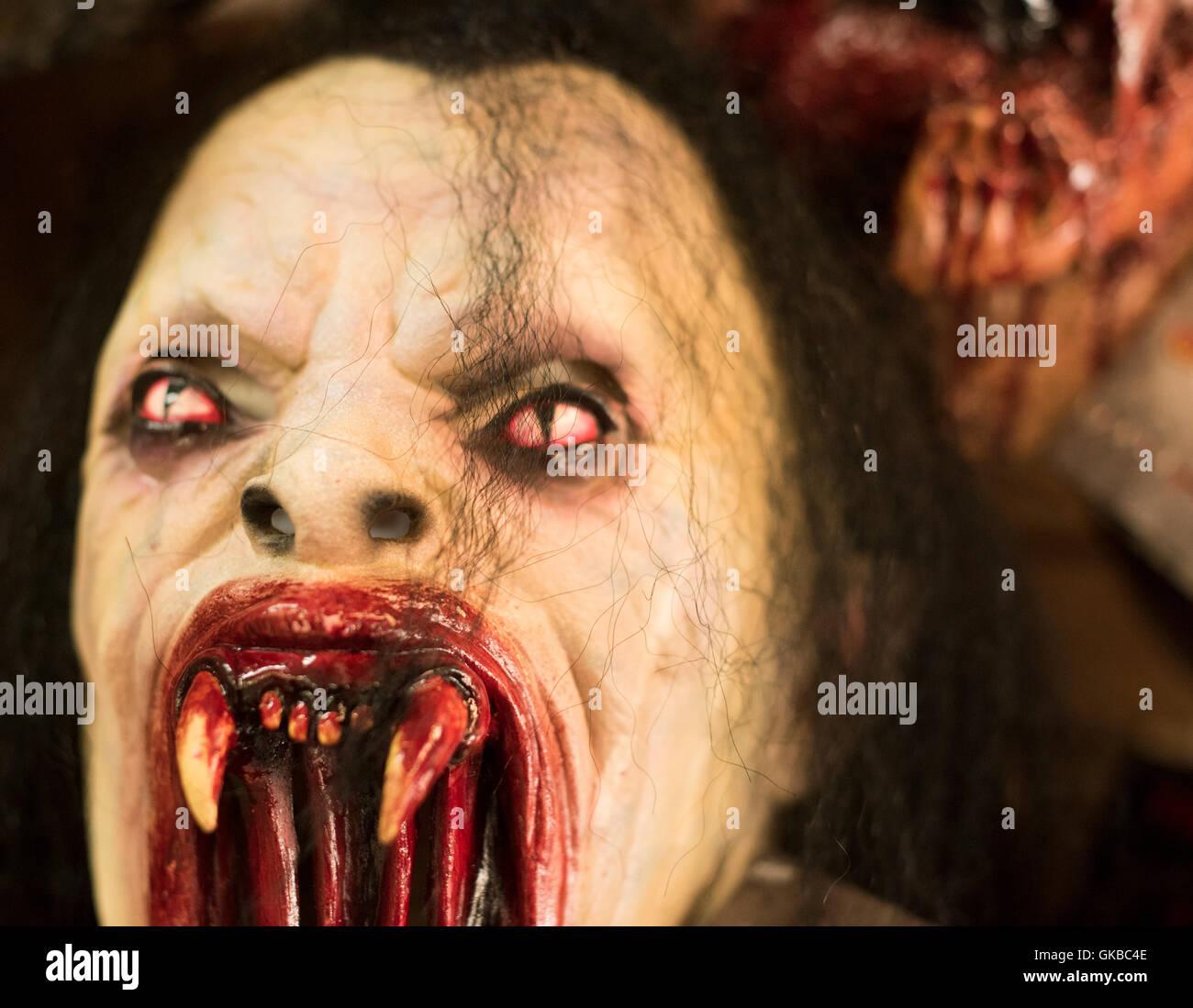 Halloween Bloody Dracula mask - Stock Image