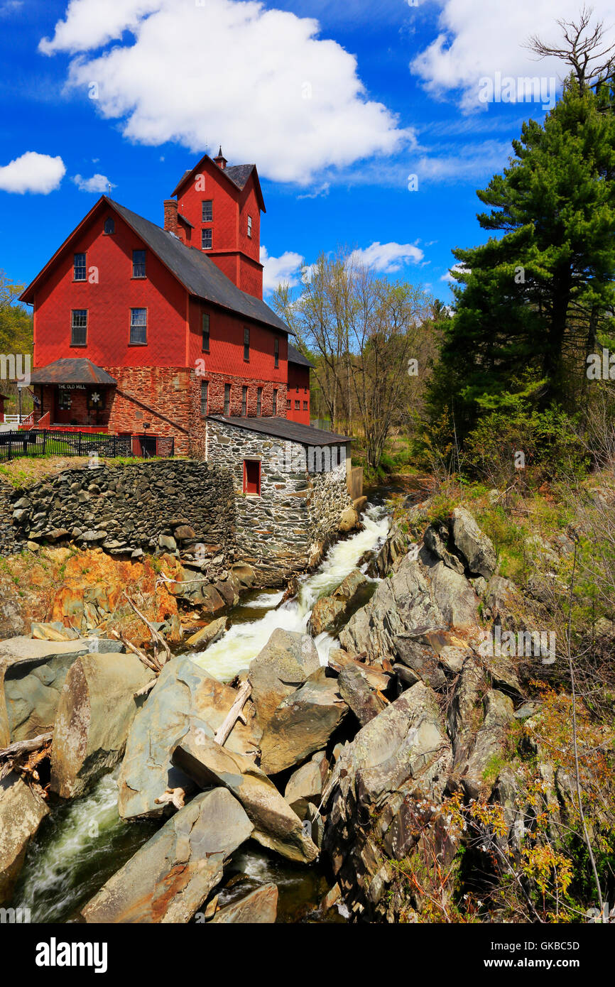 The Old Red Mill, Jericho, Vermont, USA - Stock Image
