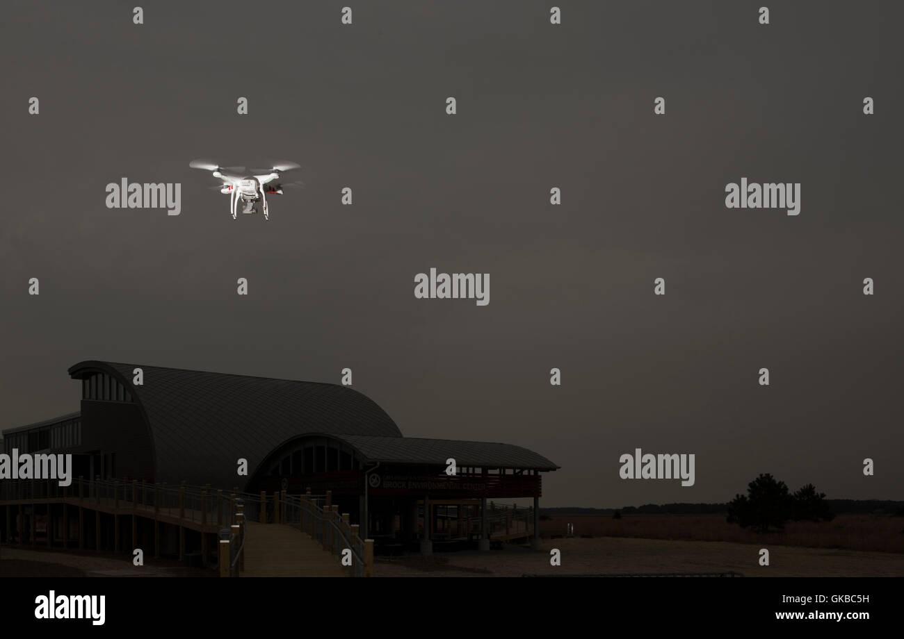 DJI Phantom 2 Vision + flying in Virginia Beach, Virginia - Stock Image