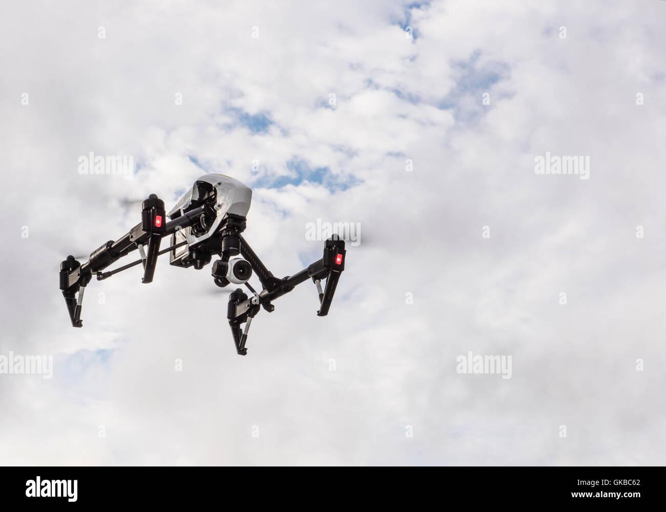 Inspire 1 flying in Virginia Beach, Virginia - Stock Image