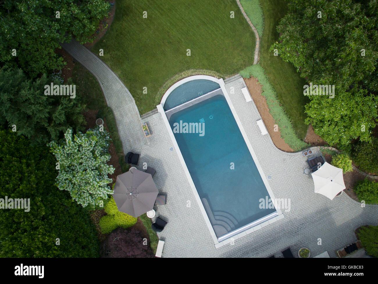 Aerial of Virginia Beach Underwater Studio Pool - Stock Image