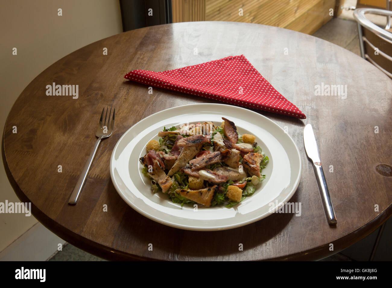 Chicken & Bacon Salad Stock Photo