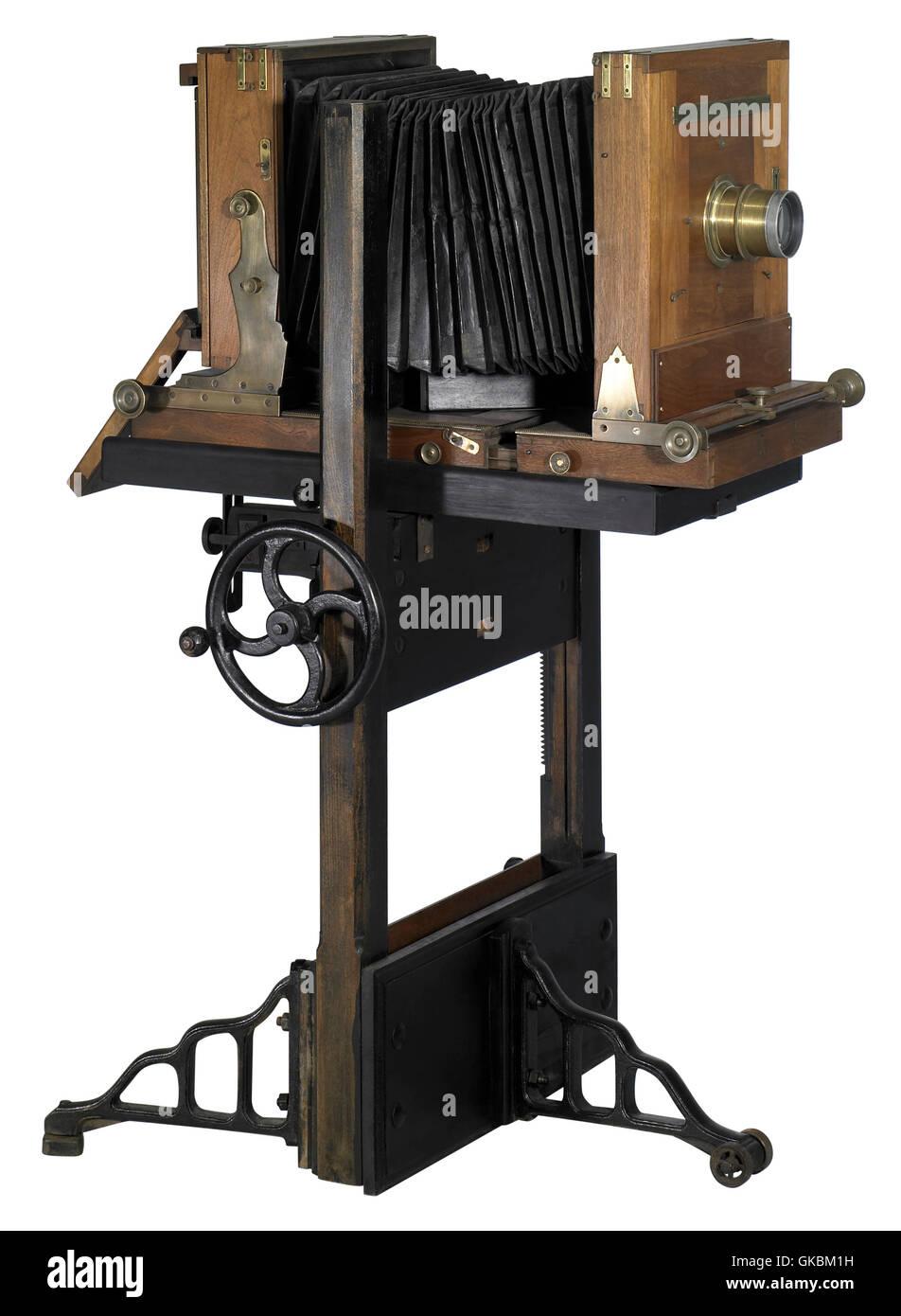 nostalgic wooden camera - Stock Image