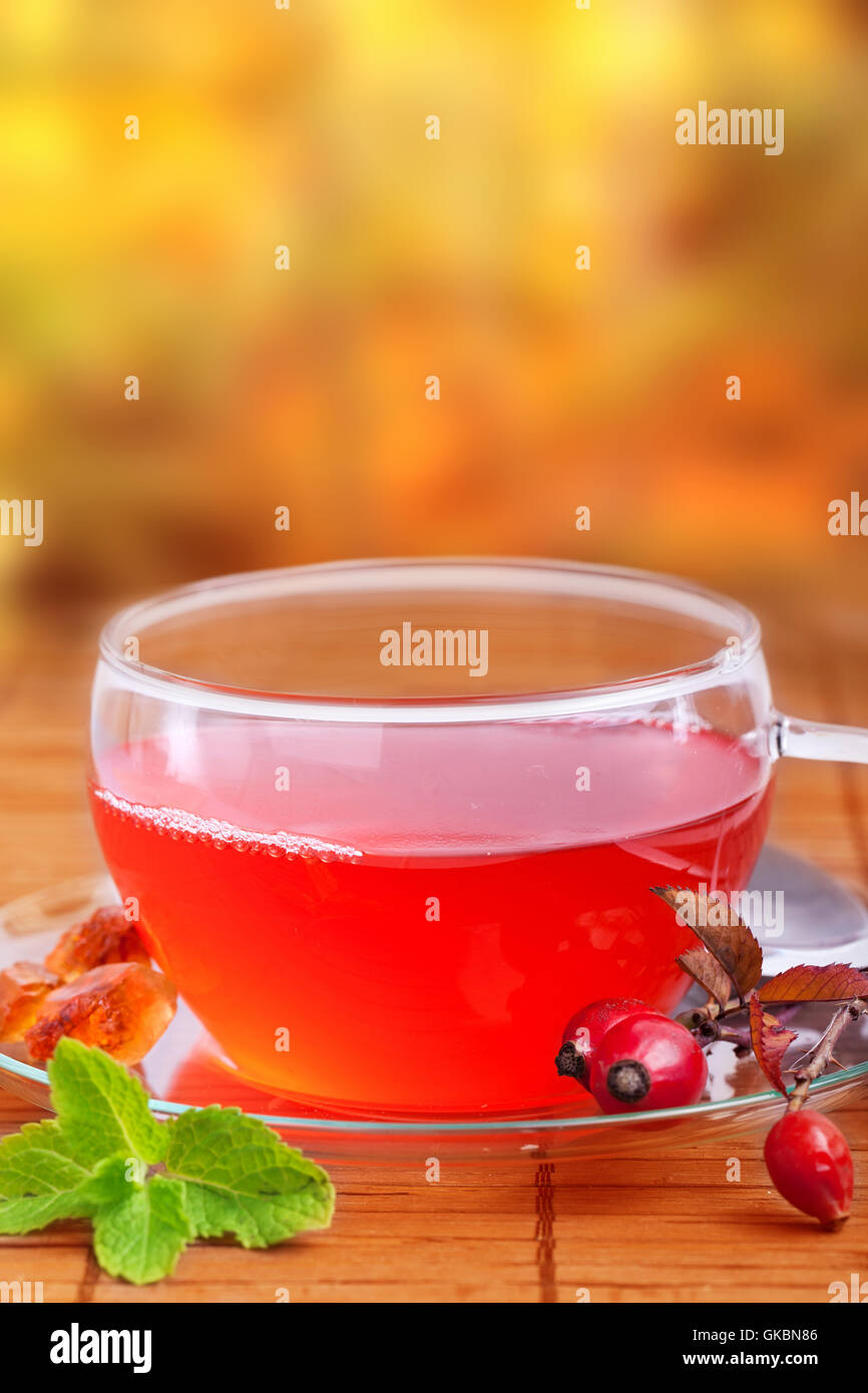 tea well being well-being Stock Photo