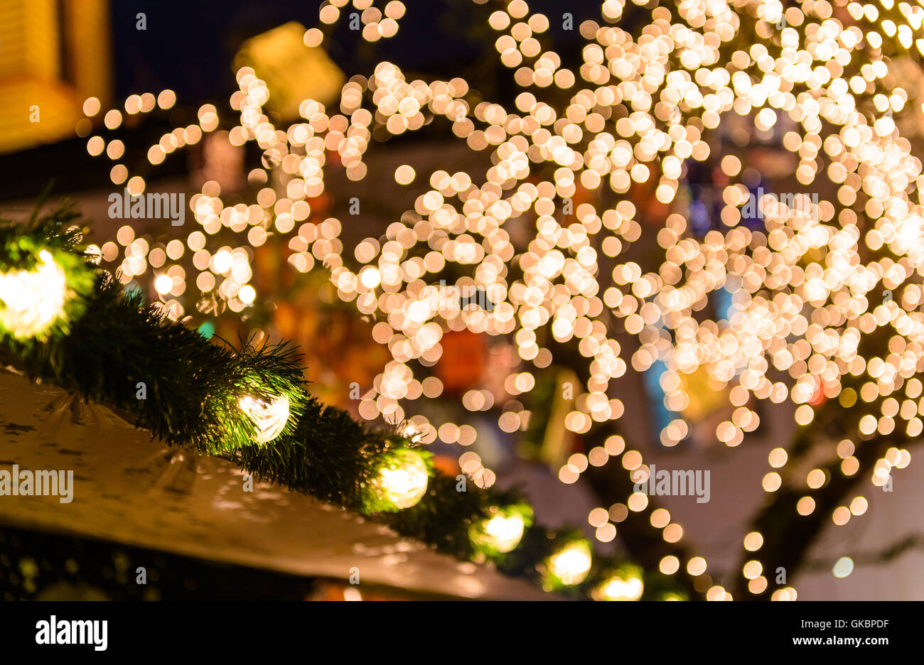 lights advent mood - Stock Image