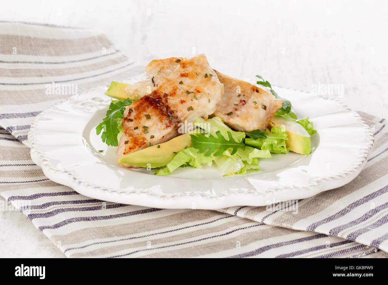 gourmet mediterran avocado - Stock Image