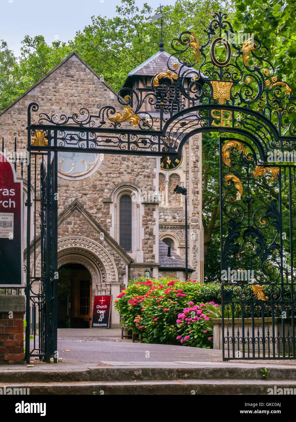 St Pancras Old Church, London, exterior - Stock Image