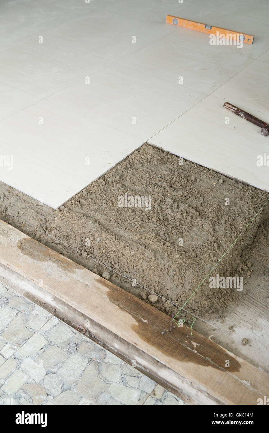 Home Improvement With Cement Mortar For Tiles Work Tile Floor