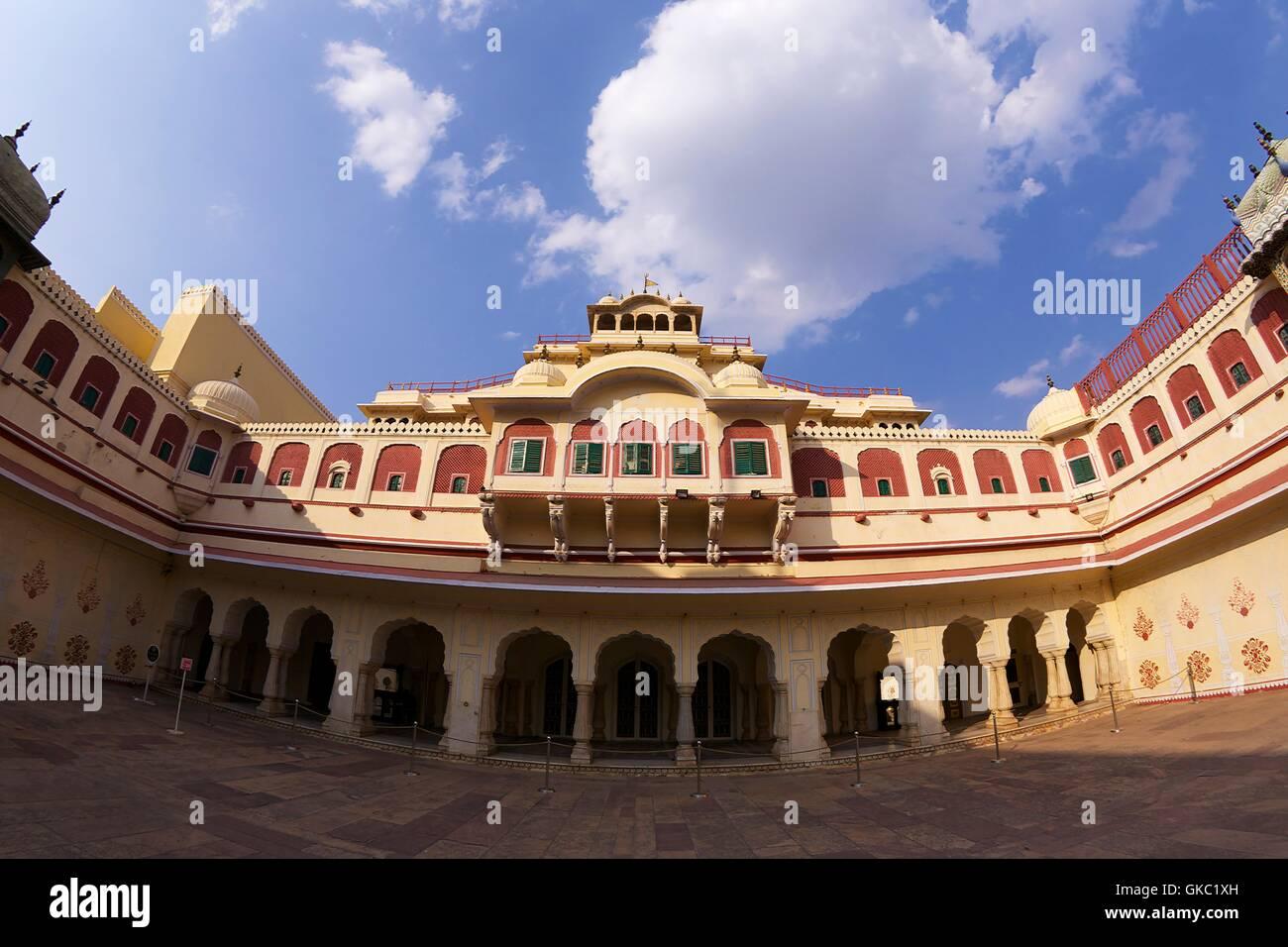 Chandra Mahal or Chandra Niwas, City Palace, Jaipur, Rajasthan, India, Asia Stock Photo
