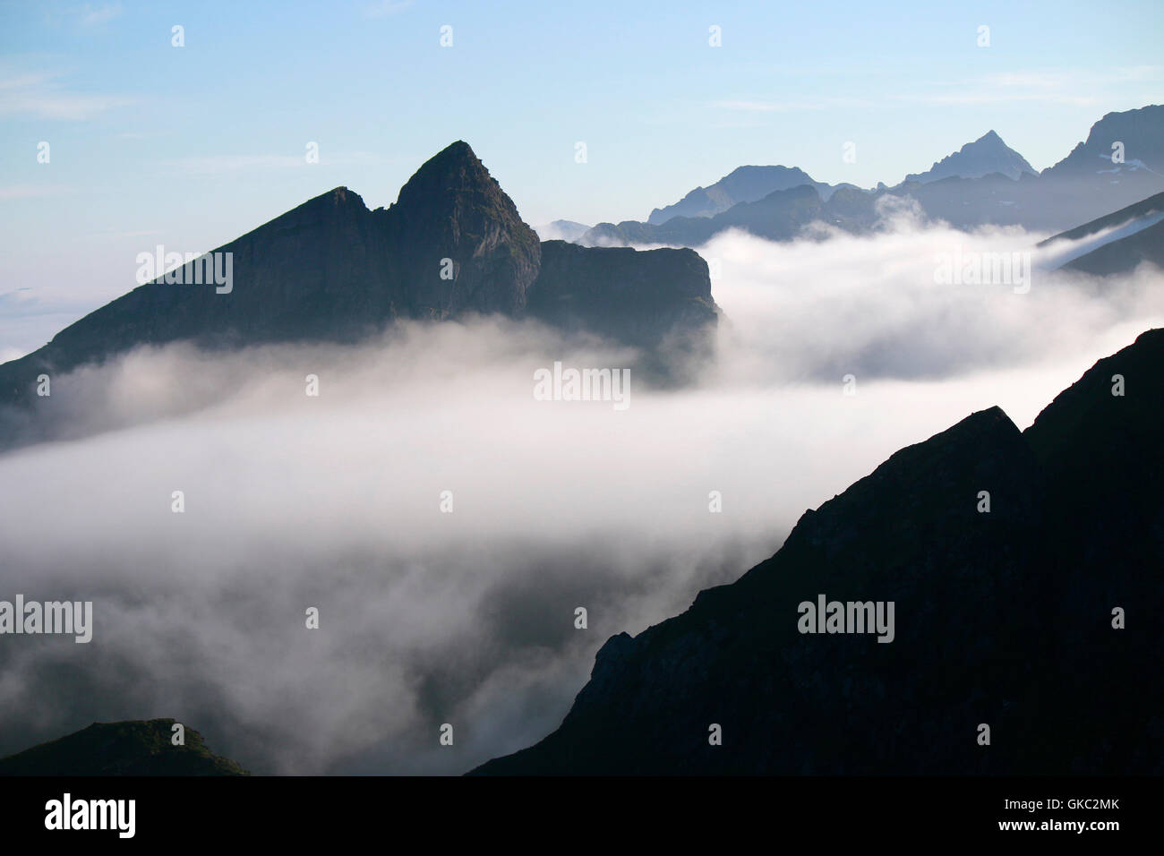 Impressionen: Reinebringen, Reinefjord, Lofoten, Norwegen. - Stock Image