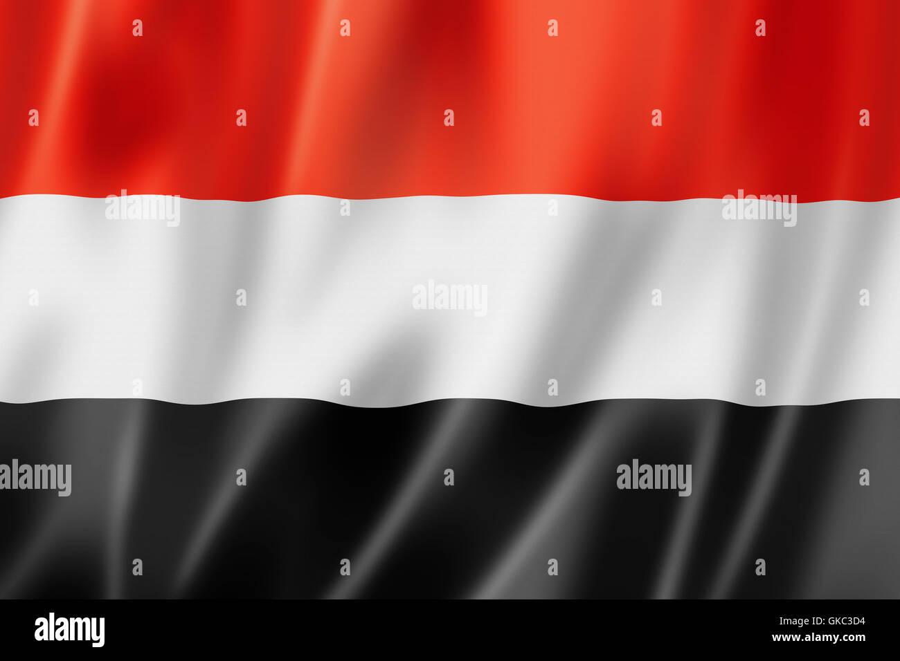 flag textile yemen - Stock Image