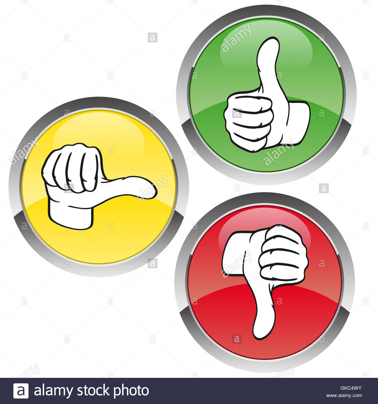 Vote Traffic Light Red Yellow Green   Stock Image