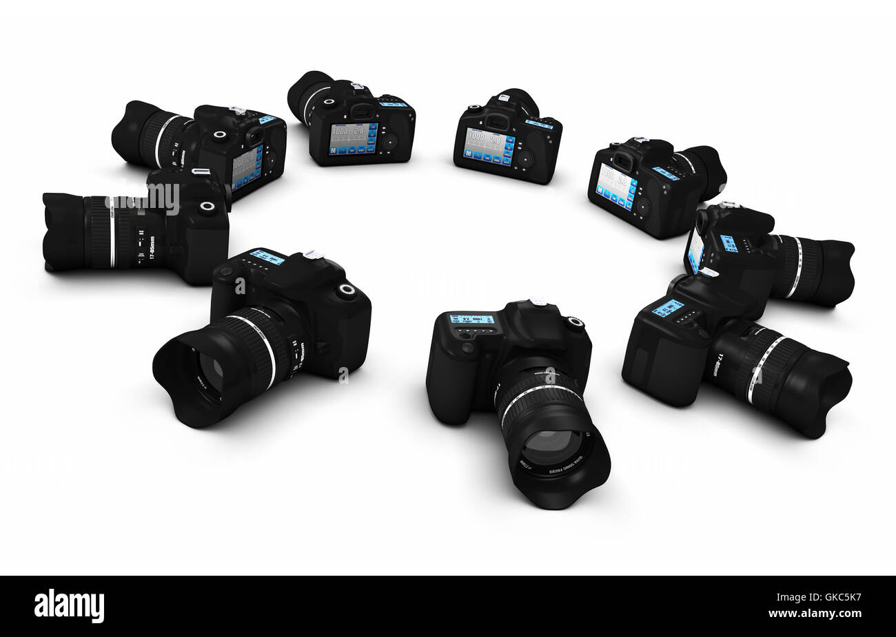 dslr concept - digital slr cameras in district 5 - Stock Image