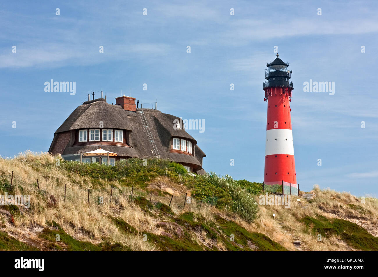 lighthouse hornum on syl - Stock Image