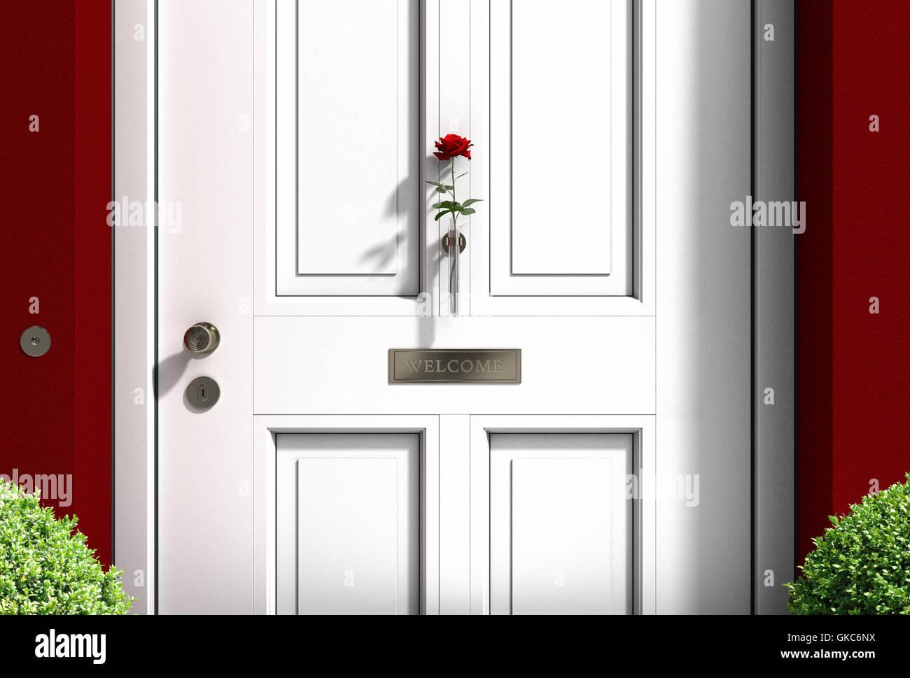 white house door - Stock Image