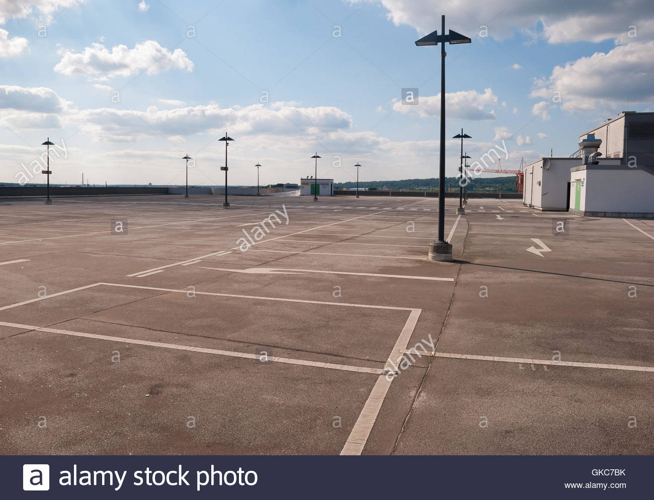 concrete parking place loneliness - Stock Image