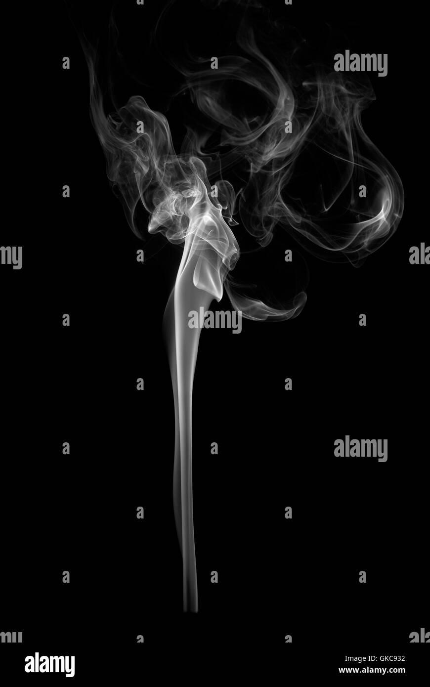 smoke smoking smokes - Stock Image