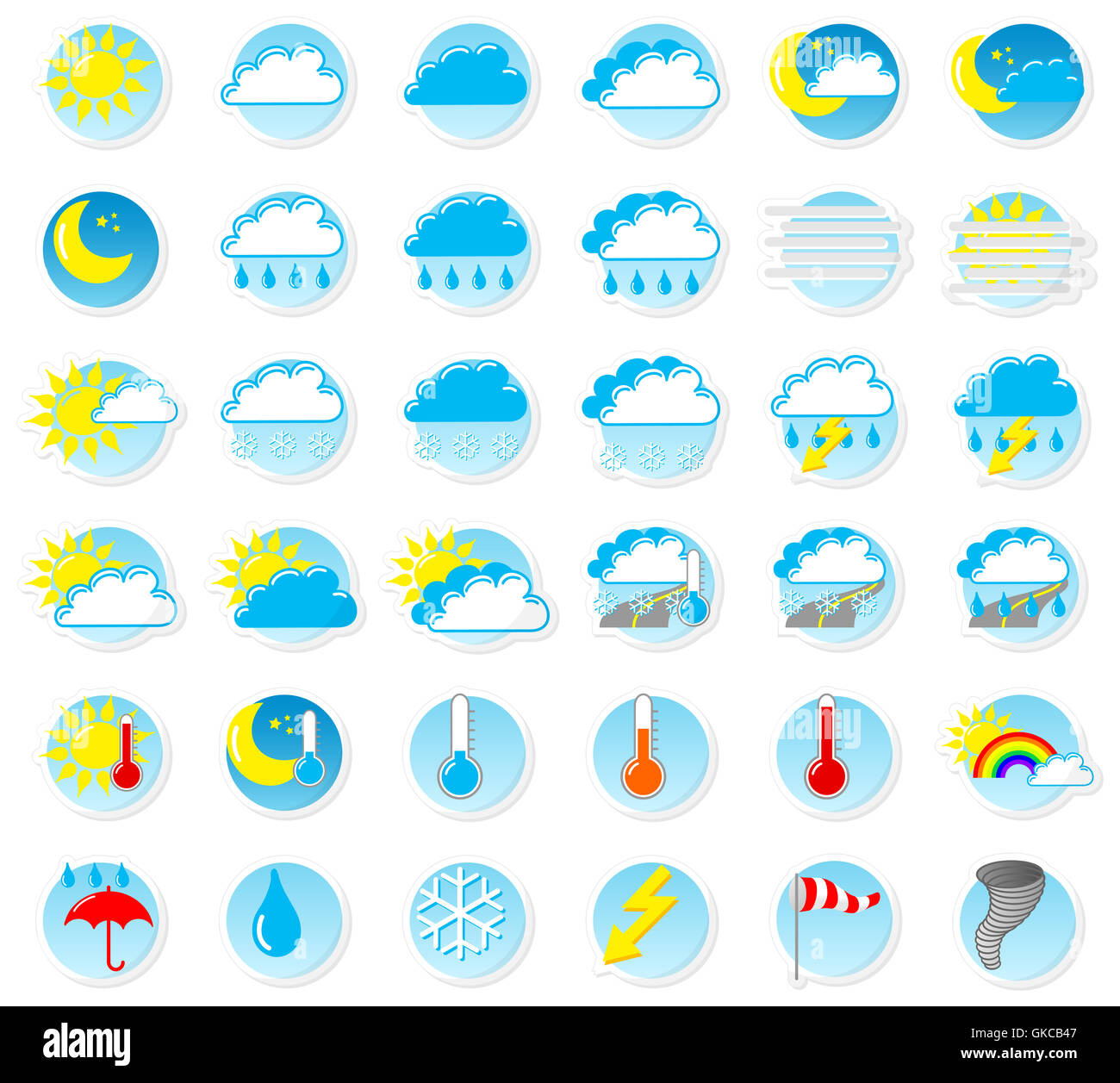 weather symbols - Stock Image