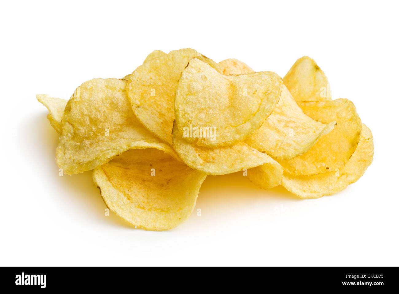 unhealthy potato chips - Stock Image