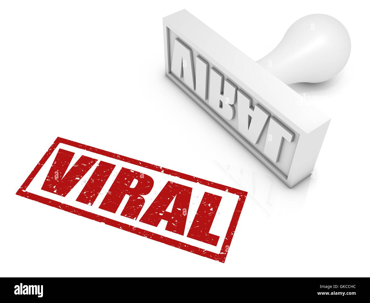Viral Rubber Stamp - Stock Image