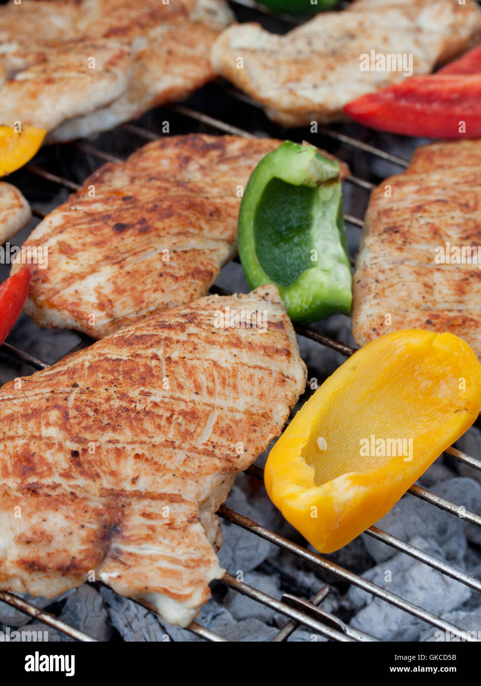 hearty barbecue - Stock Image