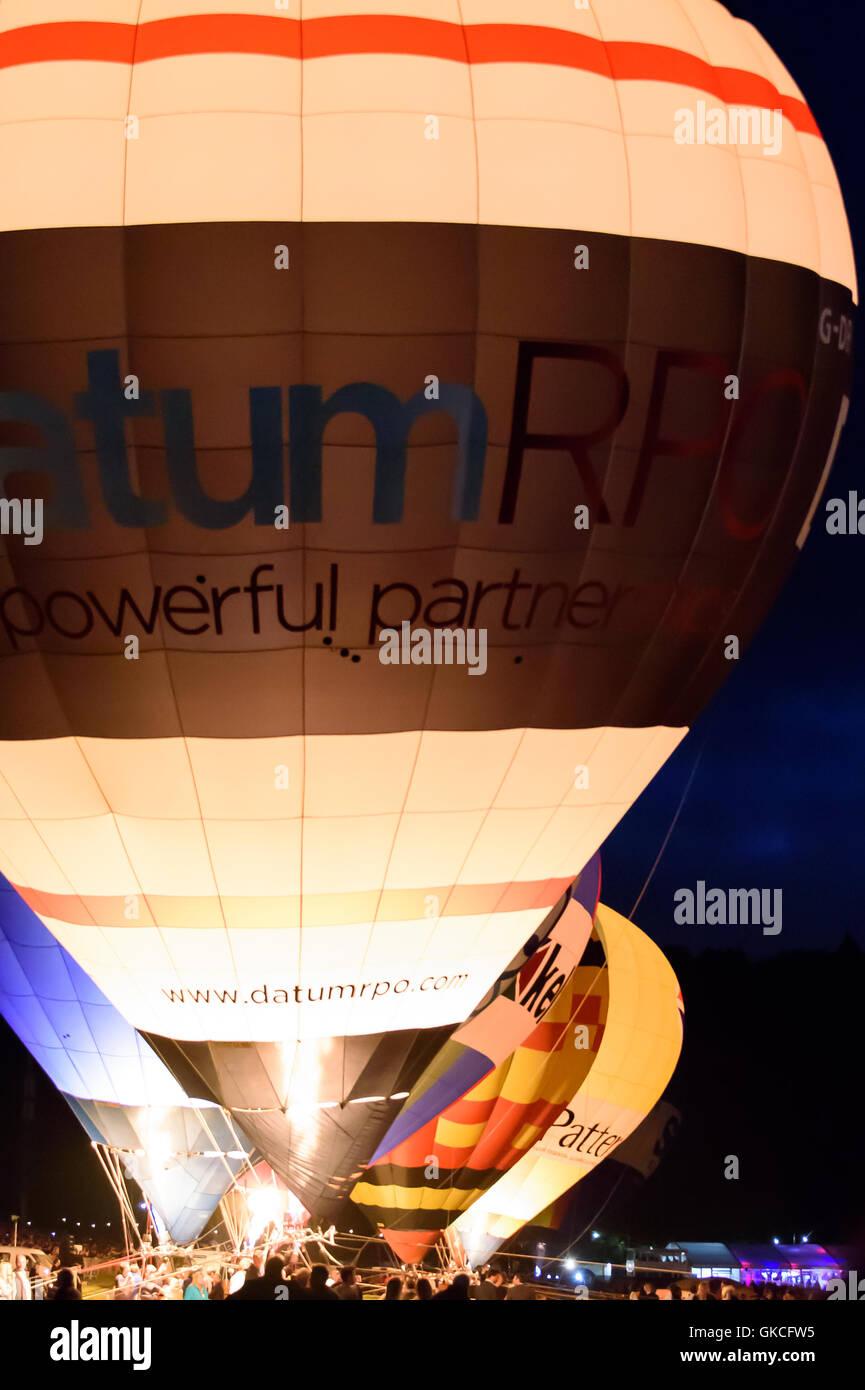 Bristol balloon fiesta night glow display Stock Photo