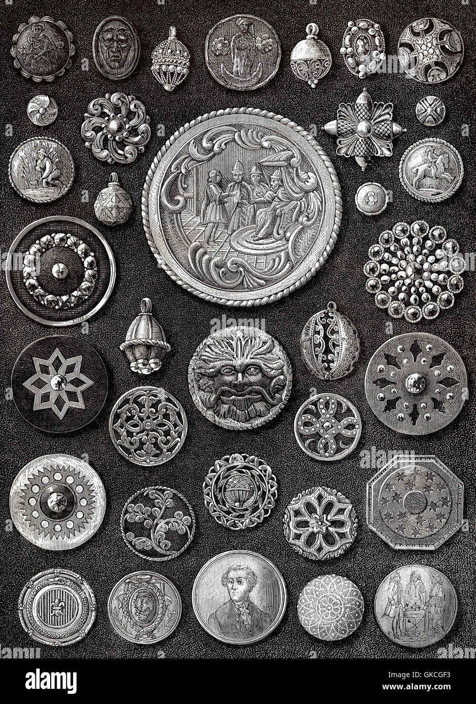 Old buttons - Stock Image